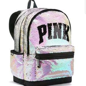 Victoria Secret Sequin Bling Campus Backpack